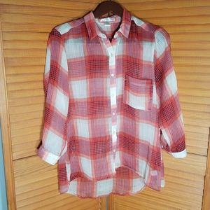 Band of Gypsies Plaid Button Down Blouse